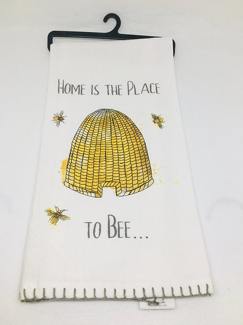 Tea Towel - Home is the place to Bee