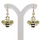 Gold Tone Bee Earrings