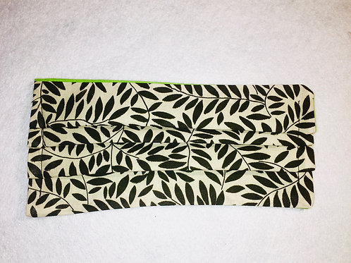 Deep Green Leaves Face Cover