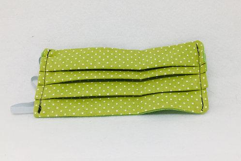 With Pocket: Green polka-dot