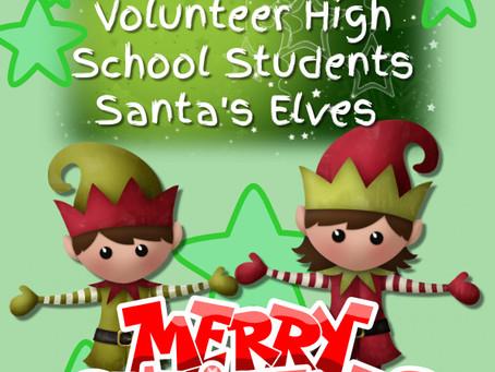 Santas Elves Volunteers Needed