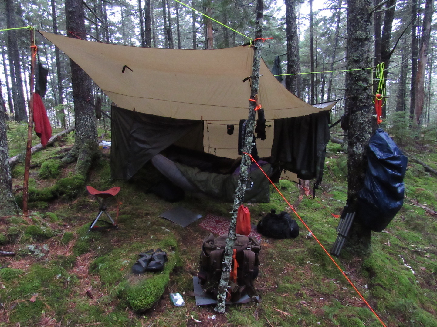 """Stone Pine Camp, Day 7 after 5"""" rain"""