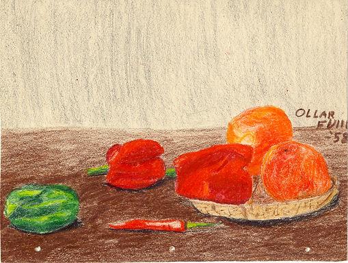 Art - still life with veges - pastels.jp