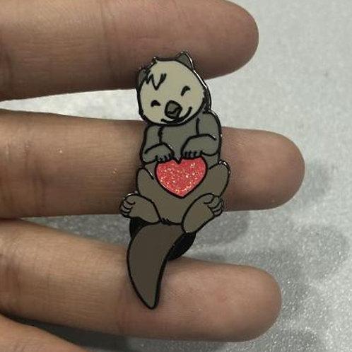 Otter Love - February Artist Pin 2019