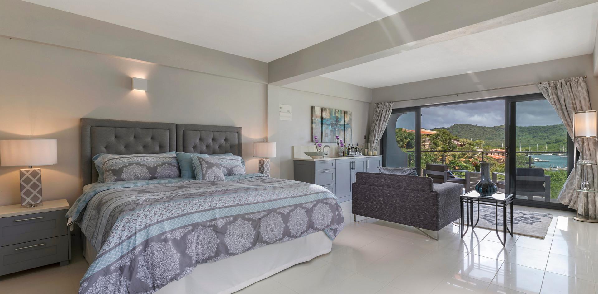 A top floor suite