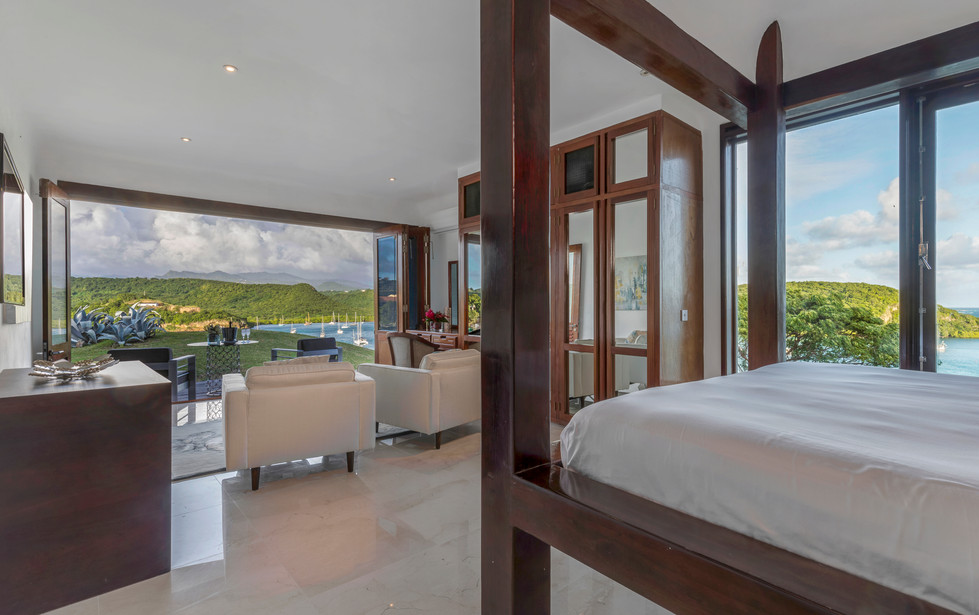 Bedroom with stunning views
