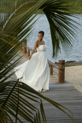 Beautiful bride on our dock