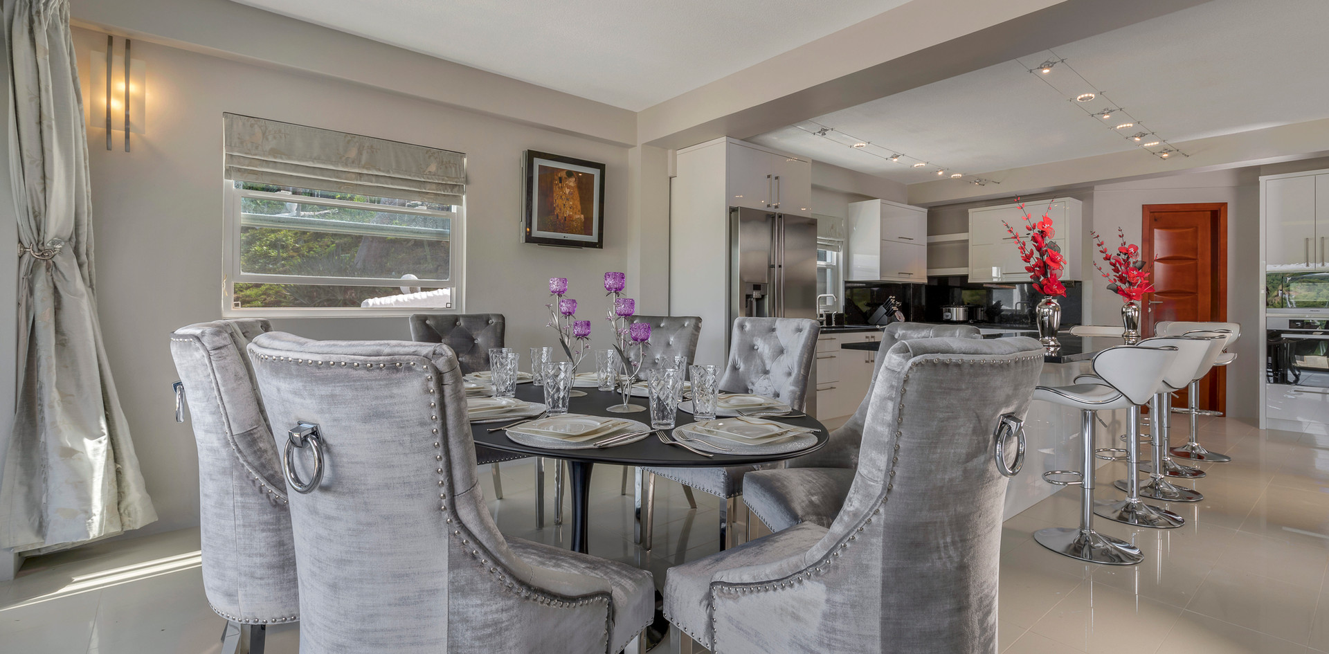 Dining area of sitting room
