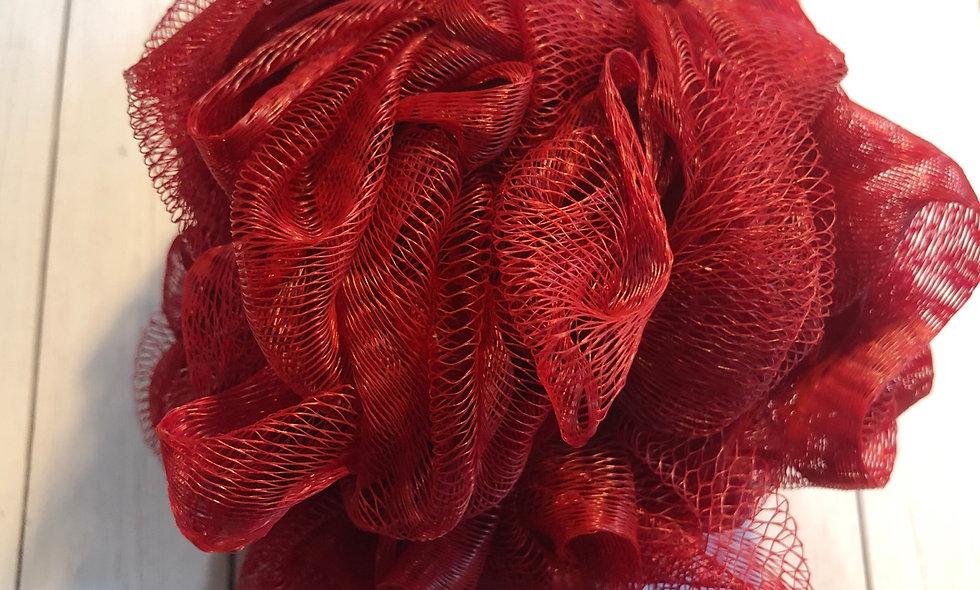 Bath Pouf - Red (50g)