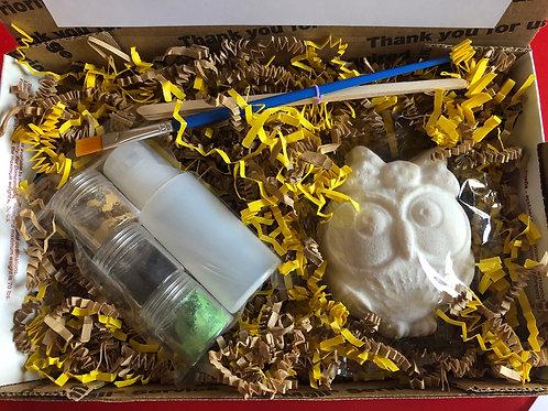 Paint Your Own Bath Bomb Kit - Owl
