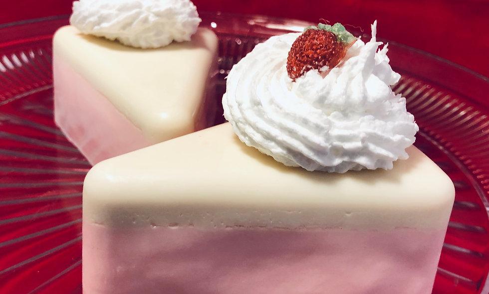 Strawberry Cake Soap Slice