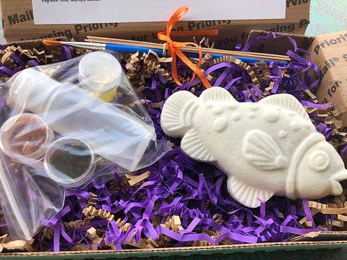 Paint Your Own Bath Bomb Kit - Fish 3