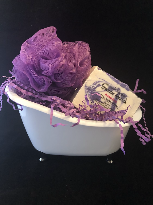 White Tub with Silver Claw Feet Gift Sets