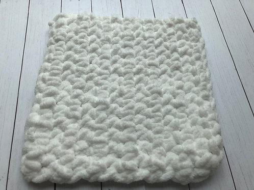 Crocheted Washcloth (White)