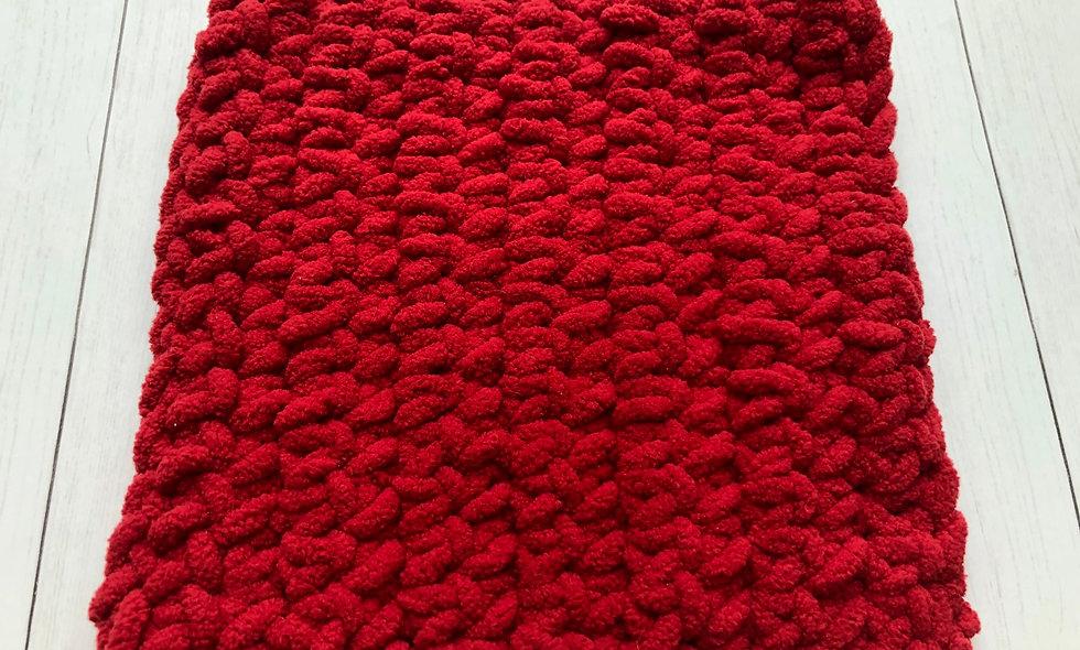 Crocheted Washcloth (Red)