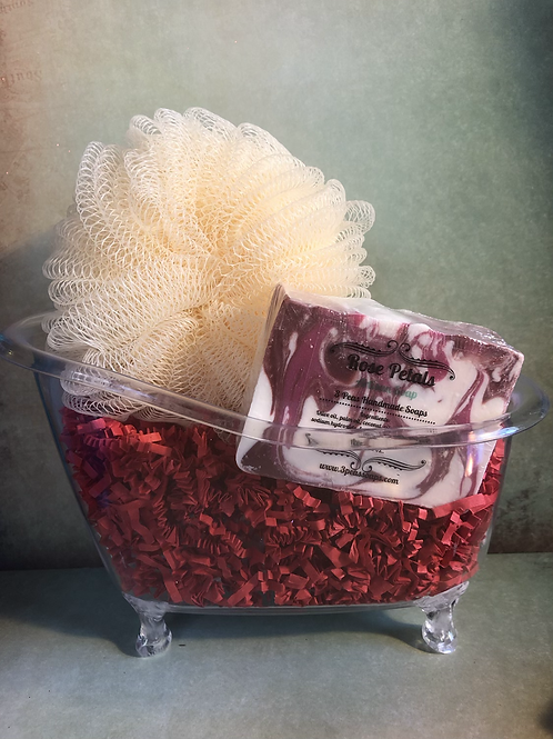 Tub Gift Set with Soap & Pumpkin Poof