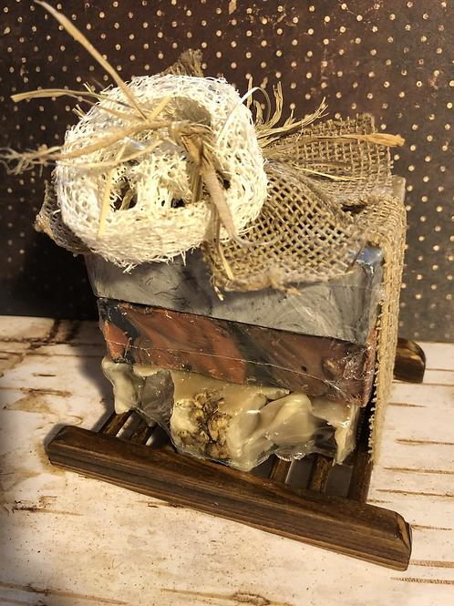 Skin Irritations & Rashes - 3 Bar Gift Pack With Bamboo Tray