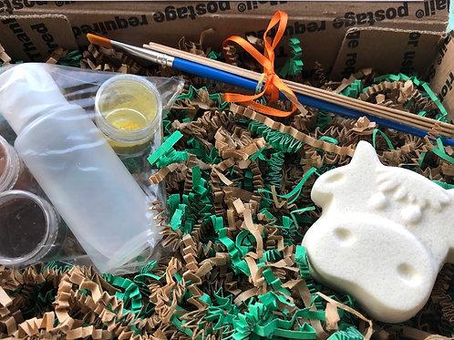 Paint Your Own Bath Bomb Kit - Cow
