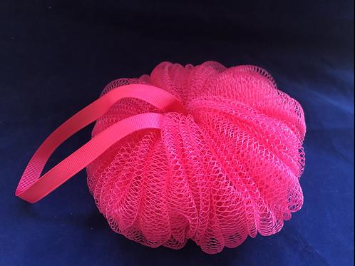 Large Pumpkin Mesh Sponge - Hot Pink