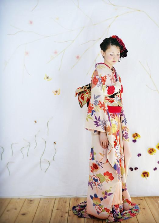 婚礼衣装 色打掛 引き振袖 アンティーク着物 淡いピンクs.jpg