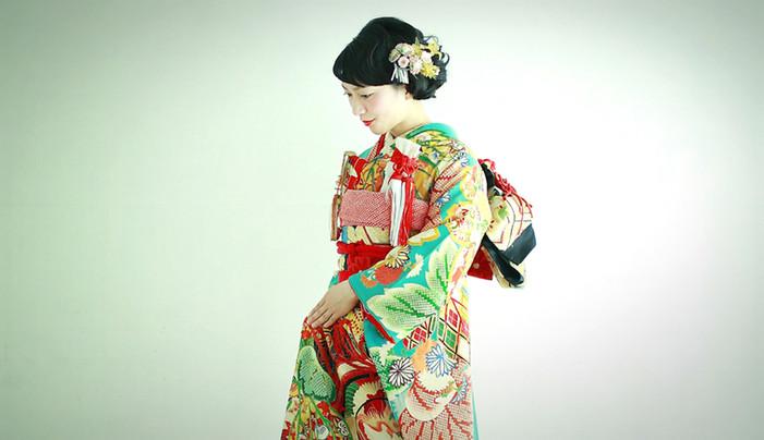 婚礼衣装 色打掛 引き振袖 アンティーク着物 グリーンs.jpg