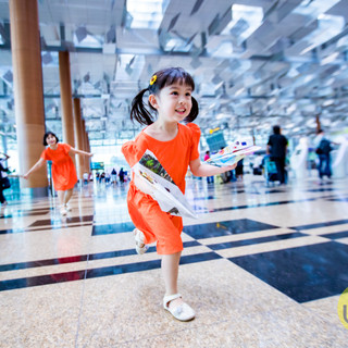 Outdoor Family Photography at Changi Airport