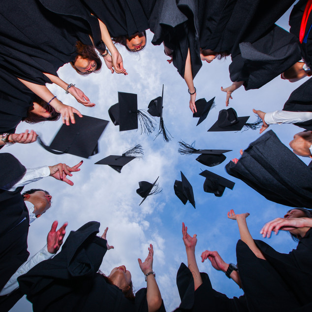 Fun Outdoor graduation photography