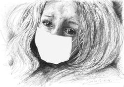 dziewczynka smog maska