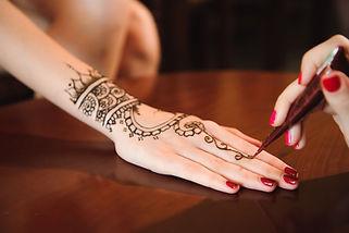 Henna Tattoo in Progress
