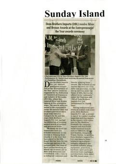 Sunday Island News paper
