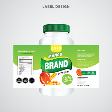 Food Supplyment Packaging