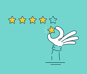 man-hand-giving-five-star-rating-vector-