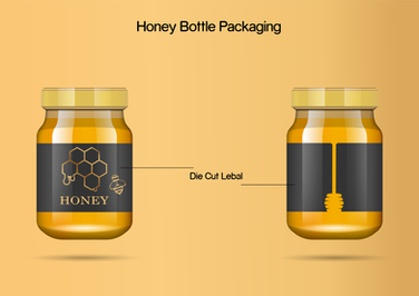 Creative Honey Bottle Label