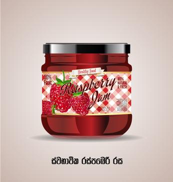 Raspaberry Jam Bottel