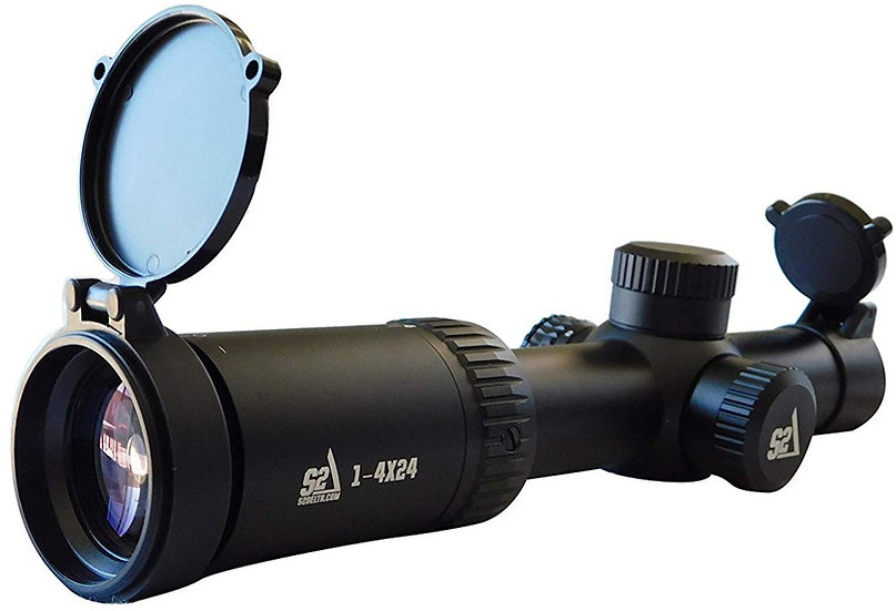S2Delta 1-4X24 Carbine Scope, Illuminated 5.56 BDC Reticle, 30mm Main Tube, SFP