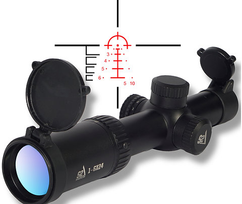 S2Delta 1-6X24 Carbine Scope, Illuminated 5.56 BDC Reticle, 30mm Main Tube, SFP