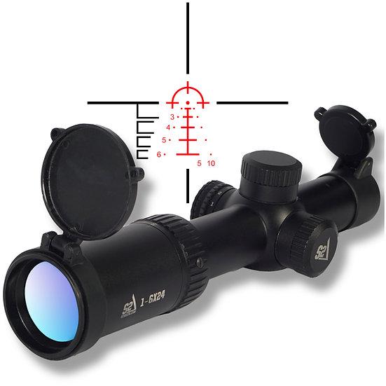 S2Delta 1-6X24 Carbine Scope, Illuminated 5.56 BDC Reticle, 30mm Main Tube, SFP
