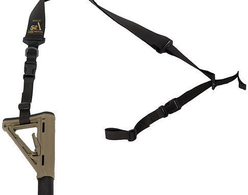 S2Delta - USA Made Premium 2 Point Rifle Sling, Fast Adjustment, Modular At