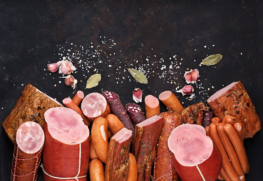 assortment of meat products including sa
