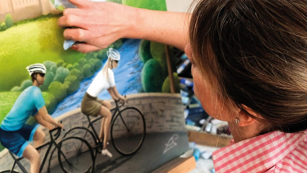 Painting to make you smile this Autumn From Yorkshire's Award Winning Artist