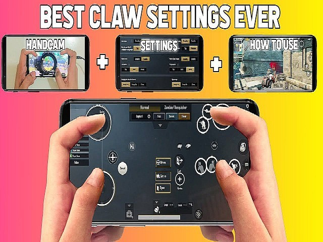 4 finger claw pubg layout setup