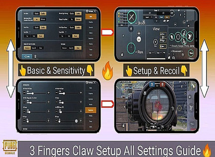 Best of 3 finger Claw setup and sensitivity setting for PUBG Mobile