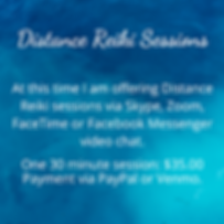 Reiki sessions via Skype, Zoom or Faceti