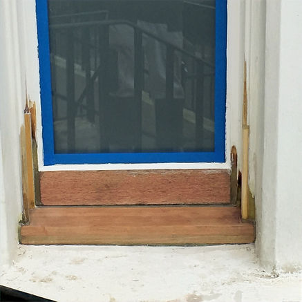 Window care repair, timber splices & dryflex repair ready to be painted.