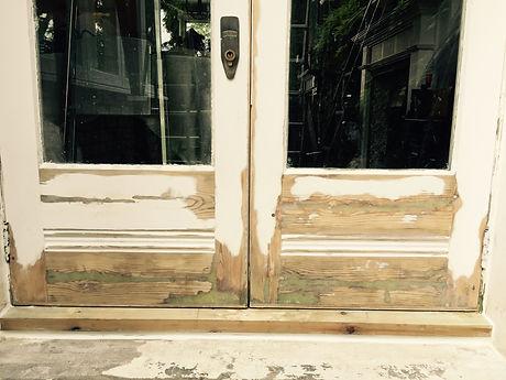Rotten doors repaired, wet rot repair.