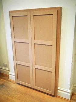 MDF bespoke cupboard, shaker style doors.