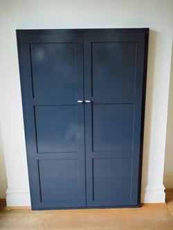 Bespoke cabinet, shaker style doors, painted finish cupboard