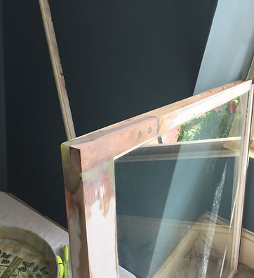 Wet rot removed from sash window and timber spliced in with dry-flex repair.