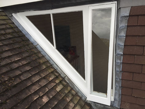 Rotten window after resotoration and painted
