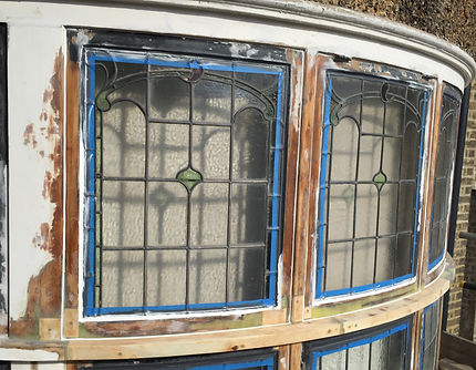 Rotten windows repaired with timber splices and dry-flex (window care). Ready to be painted.